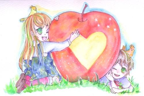 りんごとインコ